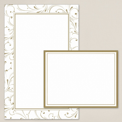 Gold Flourish DIY Invitation Kit