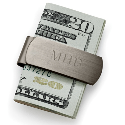 Engraved Gunmetal Money Clip for Groomsmen