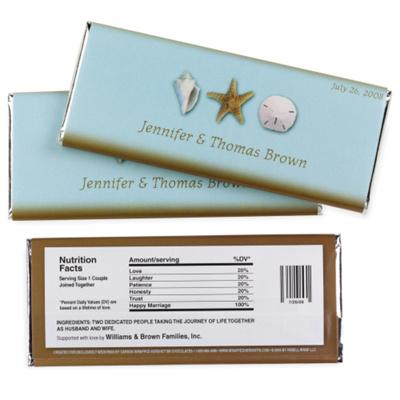 Hershey s 174 seashell personalized large chocolate bar wedding favor