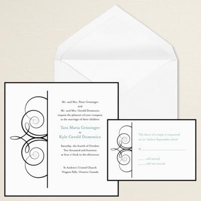 Imperial Scroll Wedding Invitation