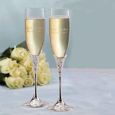 Lenox Opal Innocence Wedding Toasting Flutes
