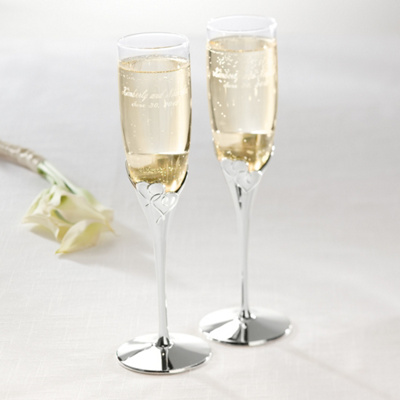sets toasting flutes lenox true love wedding toasting flutes