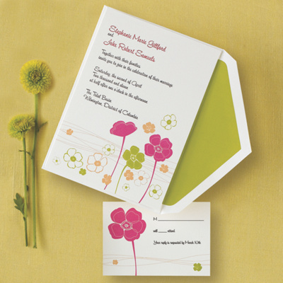 Love Blossoms Wedding Invitation