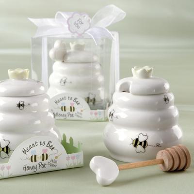 Quotmeant to beequot honey pot wedding favor for Honey bee wedding favors