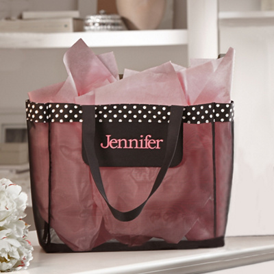 Mesh Bridesmaid Totes in Choice of Black or White