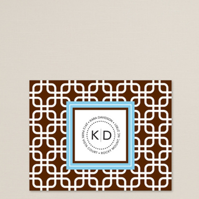 Modern Square Note Card Set