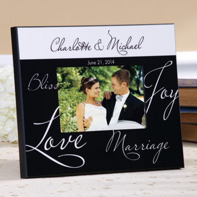 Mr. and Mrs. Wedding Photo Frame