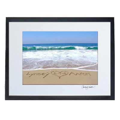 Names in the Sand - Custom Wedding Beach Photo