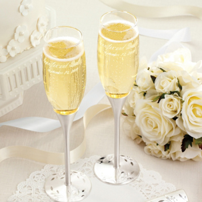 Nature's Love Wedding Toasting Flutes