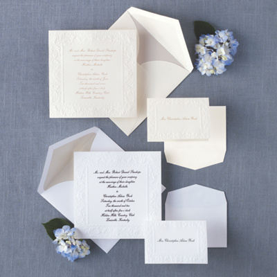 Old World Elegance Wedding Invitation