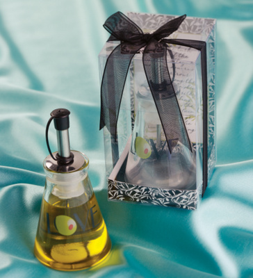 """Olive You"" Olive Oil Bottle Wedding Favor"