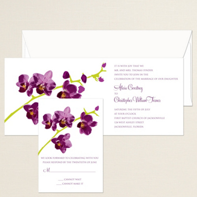 Orchid Wedding Invitations can inspire you to create best invitation template