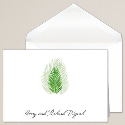 Palm Tree Passions Thank You Note