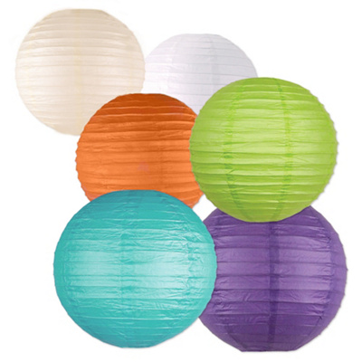 Paper Lanterns - Choice of Color and Size