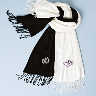 Personalized Pashmina Shawl for Bridesmaids