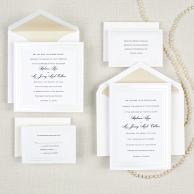 Pearl Pleasure Wedding Invitation