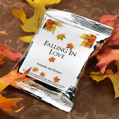 Personalized Autumn Themed Cocoa Mix Wedding Favor