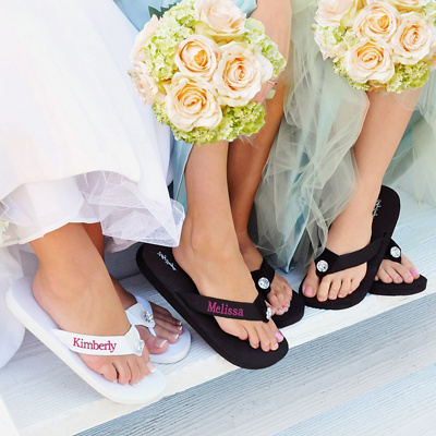 Personalized Wedding Flip Flops