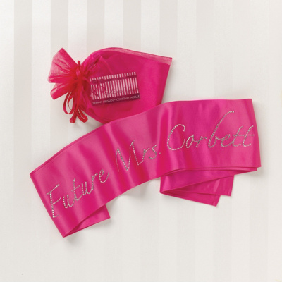 "Personalized ""Future Mrs."" Sash for the Bride To Be"