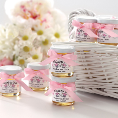 Personalized Jars of Honey Wedding Favor
