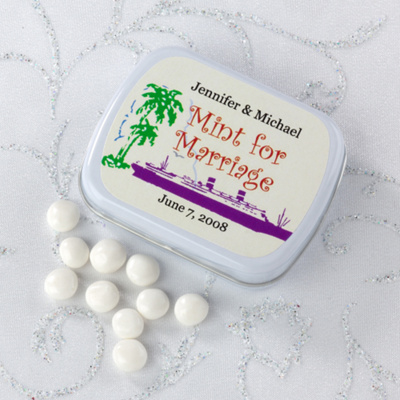 personalized mint tin wedding favors in cruise ship design