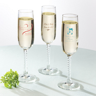Personalized Toasting Flutes Wedding Favor