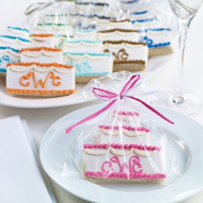 Personalized Wedding Cake Cookie Wedding Favor