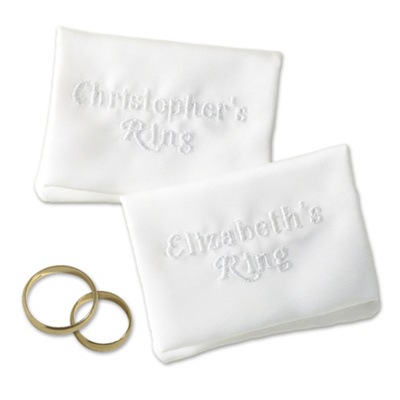 Personalized Wedding Ring Pouches