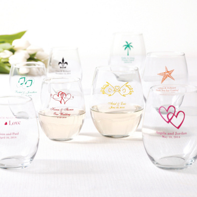 personalized wine glass favor 9oz