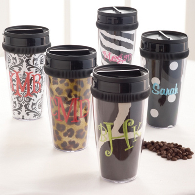 Playful Print Personalized Tumblers