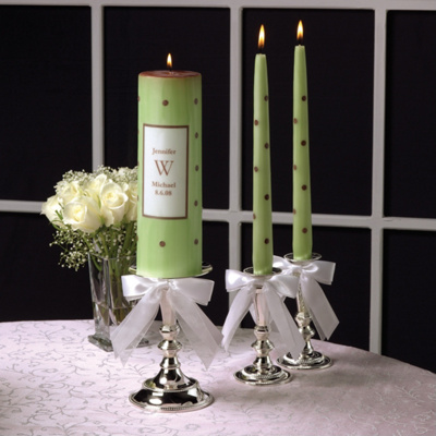 Polka Dot Wedding Unity Candles