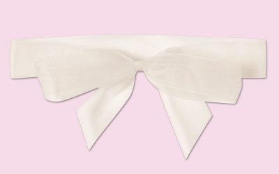 Pre-tied Organza Wrap Around Bow For Wedding Invitation