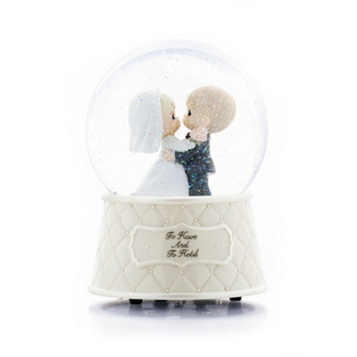 Precious Moments Musical Waterglobe Cake Top