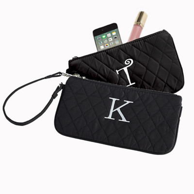 Quilted Microfiber Wristlet for Bridesmaids