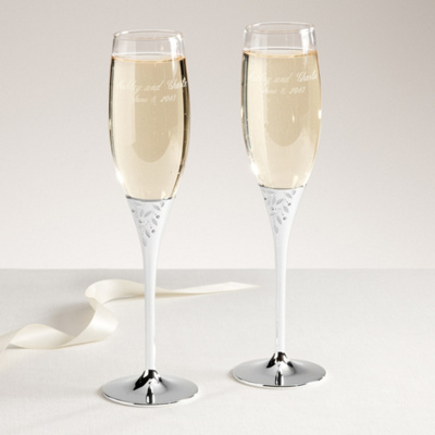Reed & Barton Season's of Love Champagne Flutes