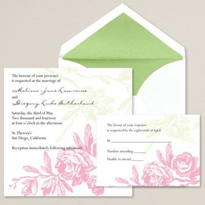 Regal Roses Wedding Invitation