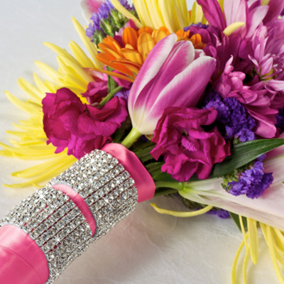 Rhinestone Wedding Bouquet Cuff