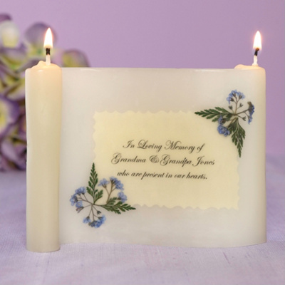 Scroll Wedding Memorial Candle