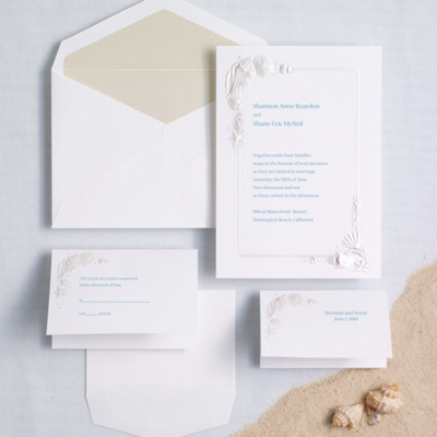 Sea Treasures Wedding Invitation