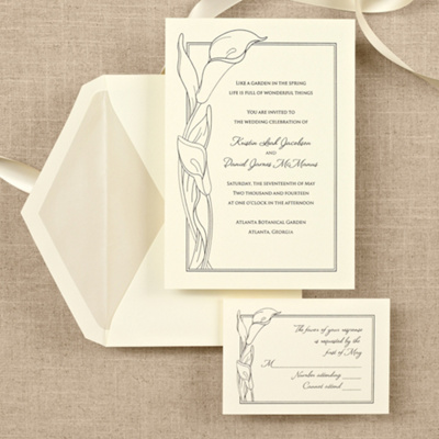 Simply Calla Lovely Wedding Invitation