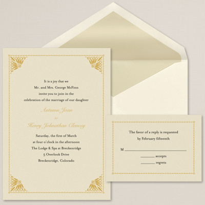 Simply Elegant Wedding Invitation Contemporary Wedding Invitations