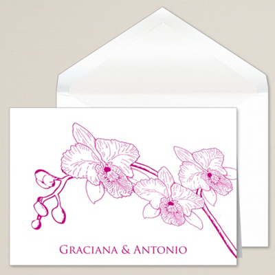 Simply Orchid Thank You Note