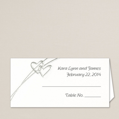 Soaring Hearts Wedding Place Card