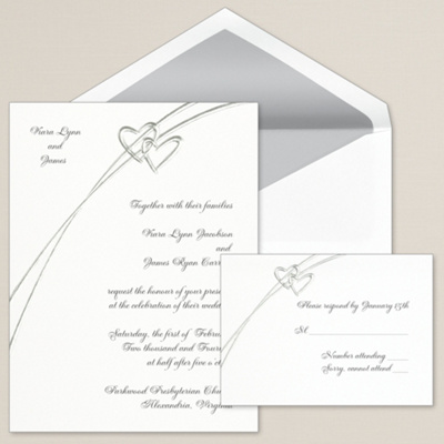 Soaring Hearts Wedding Invitation