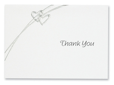 Soaring Hearts Wedding Thank You Note           (was $54.95 for 100)