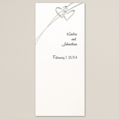 Soaring Hearts Silver Wedding Program