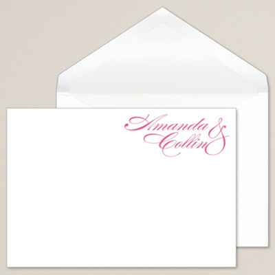Sophisticated Script Thank You Note