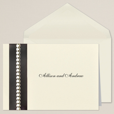 Sophisticated Sparkle Thank You Note