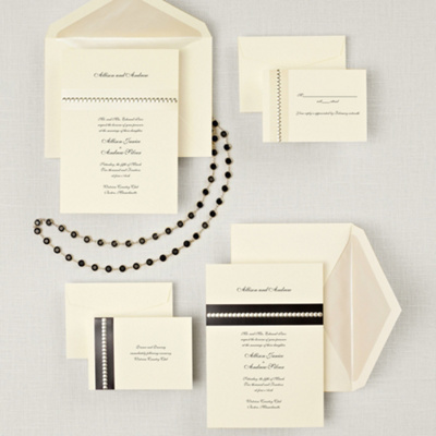 Sophisticated Sparkle Wedding Invitation