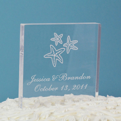 Starfish Cake Topper- Square
